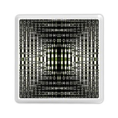 Interwoven Grid Pattern In Green Memory Card Reader (square)