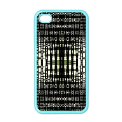 Interwoven Grid Pattern In Green Apple Iphone 4 Case (color)