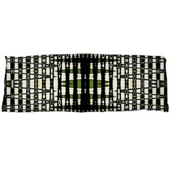 Interwoven Grid Pattern In Green Body Pillow Case (dakimakura)