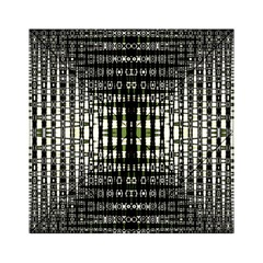 Interwoven Grid Pattern In Green Acrylic Tangram Puzzle (6  x 6 )