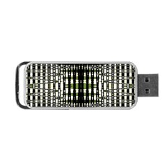 Interwoven Grid Pattern In Green Portable USB Flash (One Side)