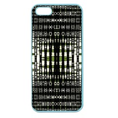Interwoven Grid Pattern In Green Apple Seamless iPhone 5 Case (Color)