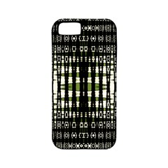 Interwoven Grid Pattern In Green Apple iPhone 5 Classic Hardshell Case (PC+Silicone)
