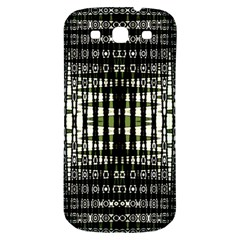 Interwoven Grid Pattern In Green Samsung Galaxy S3 S Iii Classic Hardshell Back Case