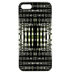 Interwoven Grid Pattern In Green Apple iPhone 5 Hardshell Case with Stand