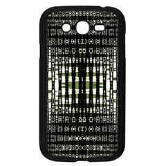 Interwoven Grid Pattern In Green Samsung Galaxy Grand DUOS I9082 Case (Black)