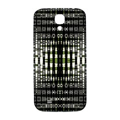 Interwoven Grid Pattern In Green Samsung Galaxy S4 I9500/I9505  Hardshell Back Case