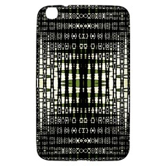Interwoven Grid Pattern In Green Samsung Galaxy Tab 3 (8 ) T3100 Hardshell Case