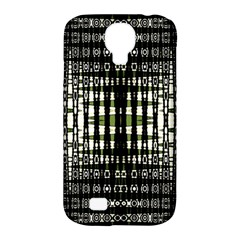 Interwoven Grid Pattern In Green Samsung Galaxy S4 Classic Hardshell Case (pc+silicone)