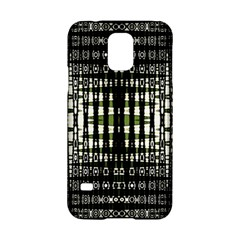 Interwoven Grid Pattern In Green Samsung Galaxy S5 Hardshell Case