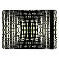 Interwoven Grid Pattern In Green Samsung Galaxy Tab Pro 12.2  Flip Case
