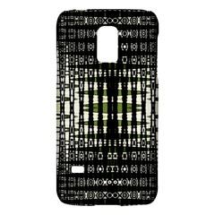 Interwoven Grid Pattern In Green Galaxy S5 Mini