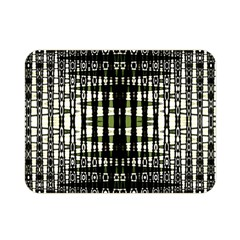Interwoven Grid Pattern In Green Double Sided Flano Blanket (mini)