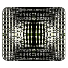Interwoven Grid Pattern In Green Double Sided Flano Blanket (Small)
