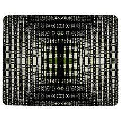 Interwoven Grid Pattern In Green Jigsaw Puzzle Photo Stand (Rectangular)
