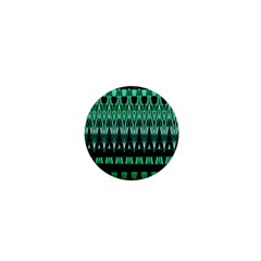 Green Triangle Patterns 1  Mini Buttons