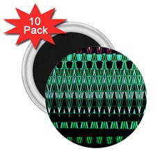 Green Triangle Patterns 2.25  Magnets (10 pack)