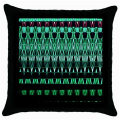 Green Triangle Patterns Throw Pillow Case (Black)