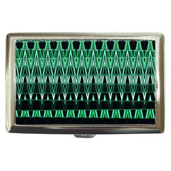 Green Triangle Patterns Cigarette Money Cases