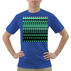 Green Triangle Patterns Dark T Shirt