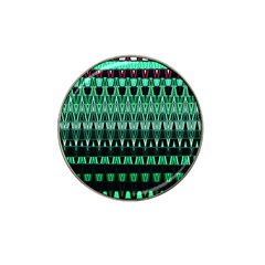 Green Triangle Patterns Hat Clip Ball Marker (4 Pack)