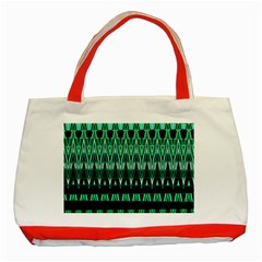 Green Triangle Patterns Classic Tote Bag (Red)