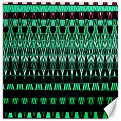 Green Triangle Patterns Canvas 12  X 12