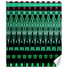 Green Triangle Patterns Canvas 20  x 24
