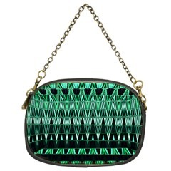 Green Triangle Patterns Chain Purses (two Sides)