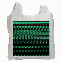 Green Triangle Patterns Recycle Bag (two Side)