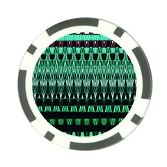 Green Triangle Patterns Poker Chip Card Guard (10 Pack)