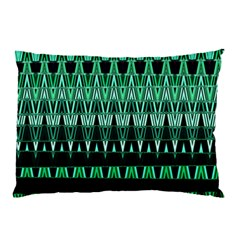 Green Triangle Patterns Pillow Case (two Sides)