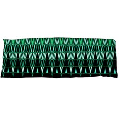 Green Triangle Patterns Body Pillow Case (Dakimakura)