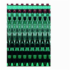 Green Triangle Patterns Small Garden Flag (Two Sides)