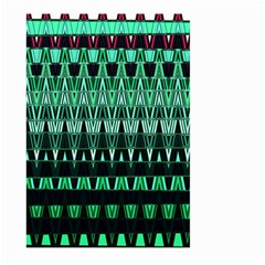 Green Triangle Patterns Large Garden Flag (Two Sides)