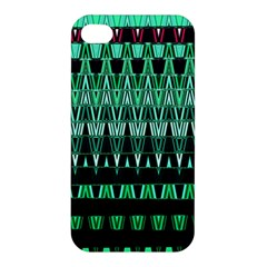 Green Triangle Patterns Apple iPhone 4/4S Premium Hardshell Case