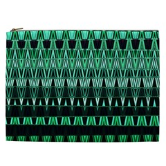 Green Triangle Patterns Cosmetic Bag (XXL)