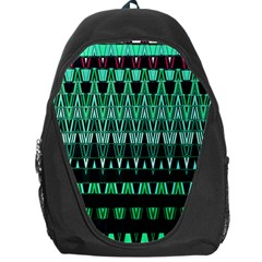 Green Triangle Patterns Backpack Bag