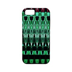 Green Triangle Patterns Apple iPhone 5 Classic Hardshell Case (PC+Silicone)