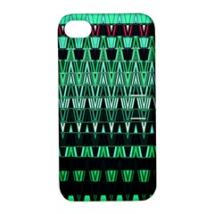Green Triangle Patterns Apple iPhone 4/4S Hardshell Case with Stand