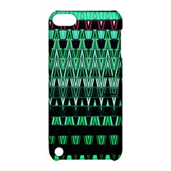 Green Triangle Patterns Apple iPod Touch 5 Hardshell Case with Stand