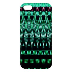 Green Triangle Patterns Apple iPhone 5 Premium Hardshell Case