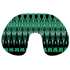 Green Triangle Patterns Travel Neck Pillows