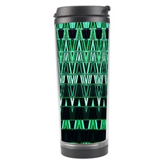 Green Triangle Patterns Travel Tumbler