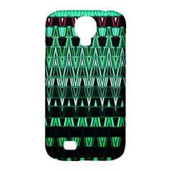 Green Triangle Patterns Samsung Galaxy S4 Classic Hardshell Case (PC+Silicone)