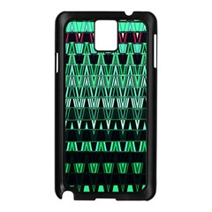 Green Triangle Patterns Samsung Galaxy Note 3 N9005 Case (Black)
