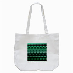Green Triangle Patterns Tote Bag (White)