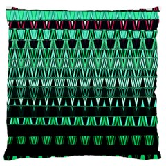 Green Triangle Patterns Standard Flano Cushion Case (One Side)