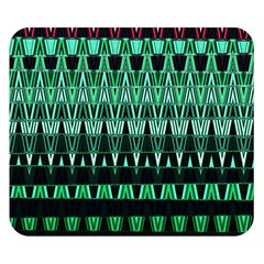 Green Triangle Patterns Double Sided Flano Blanket (Small)