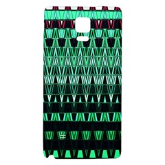Green Triangle Patterns Galaxy Note 4 Back Case